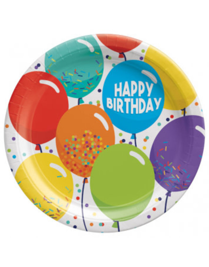 """Birthday Celebration 9"""" Round Plates (60)"""