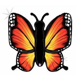"Radiant Butterfly Orange 46"" Mylar Balloon"