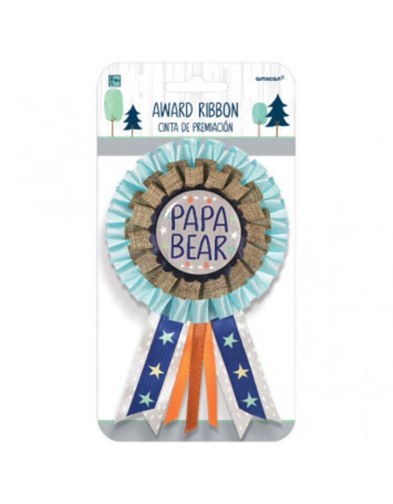 Bear-ly Wait Award Ribbon for Dad - Papa Bear