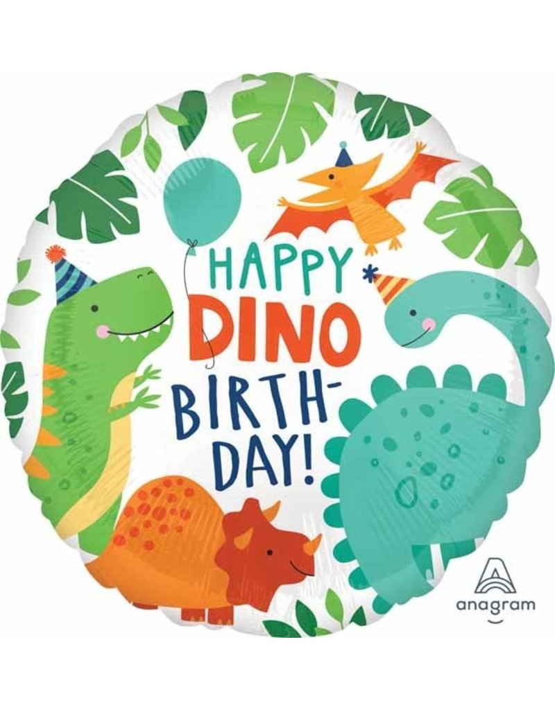 "Dinomite Party Birthday 18"" Mylar Balloon"