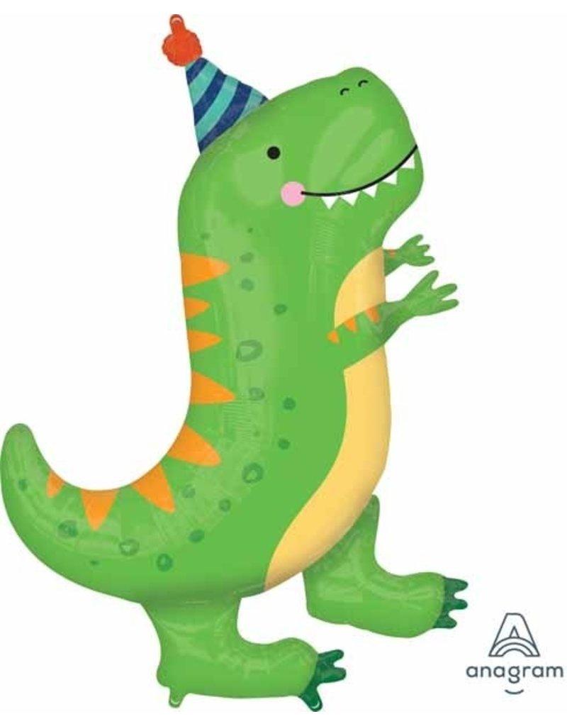 """Dinomite T-Rex 34"""" Mylar Balloon"""