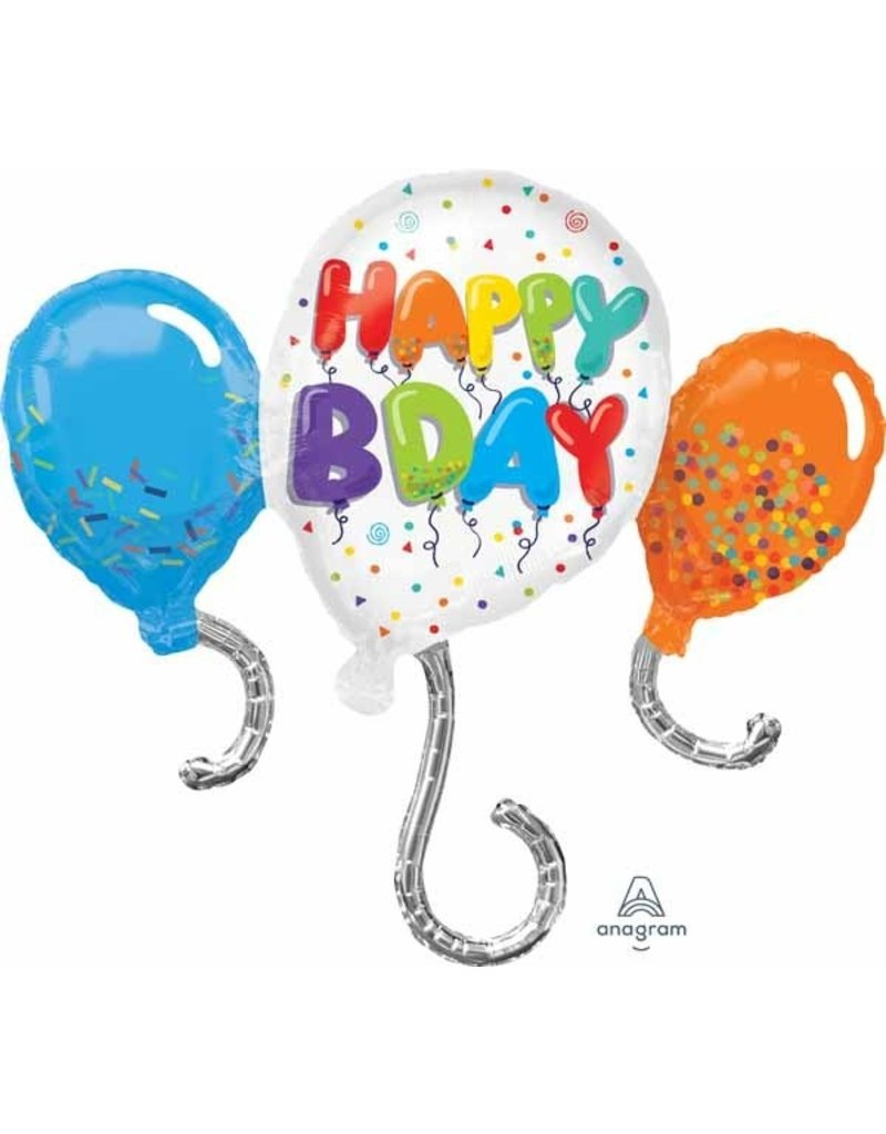 "Birthday Celebration 34"" Mylar Balloon"