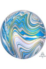 "Blue Marblez 16"" Orbz Mylar Balloon"