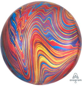 "Colourful Marblez 16"" Orbz Mylar Balloon"