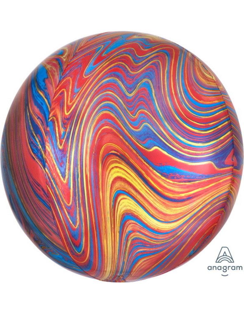 "Colourful Marblez 16"" Orbz Mylar Balloon"