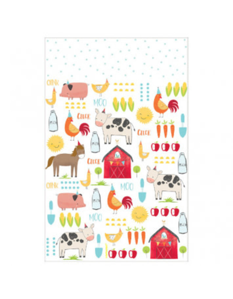 Barnyard Birthday Plastic Table Cover