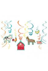 Barnyard Birthday Value Pack Foil Swirl Decorations