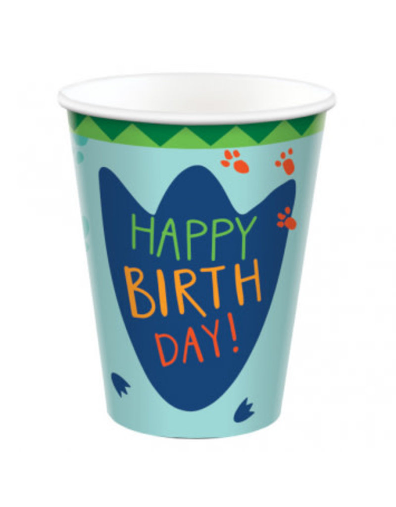 Dino-Mite 9 oz. Paper Cups (8)