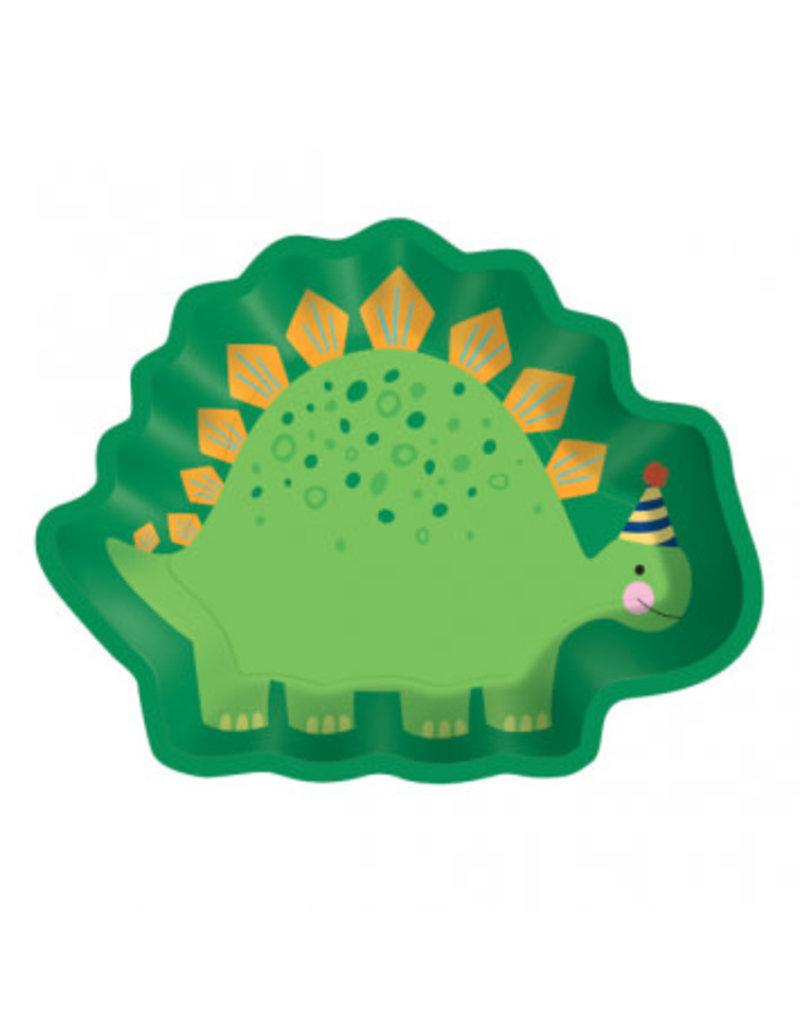 """Dinosaur Shaped 9"""" Plates"""