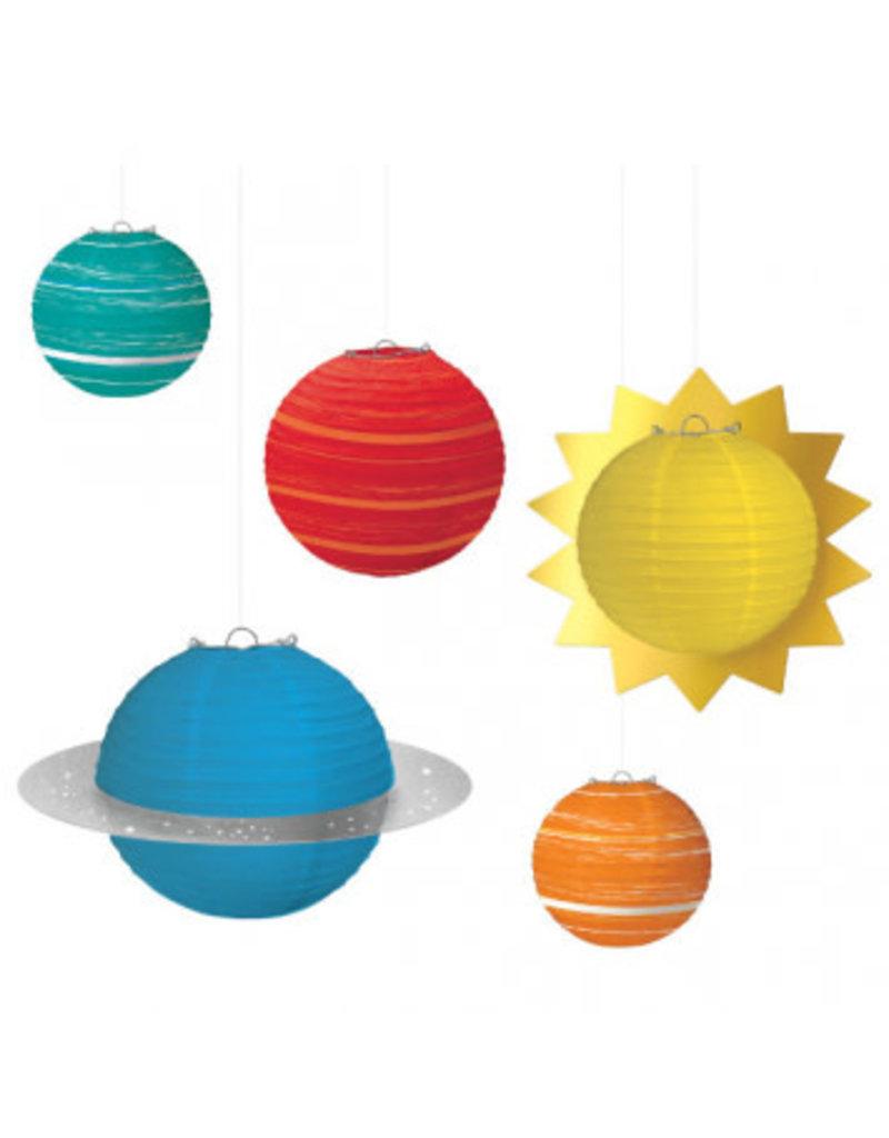 Blast Off Birthday Planet Paper Lanterns