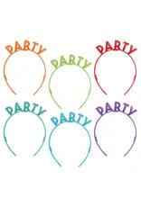 Birthday Celebration Glitter Plastic Headbands