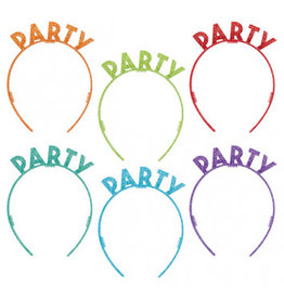 Birthday Celebration Glitter Plastic Headbands