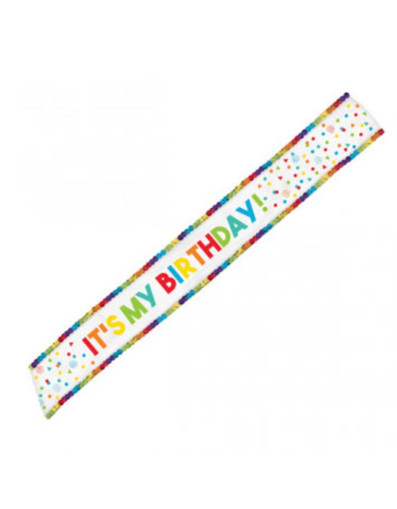 Birthday Celebration Fabric Sash
