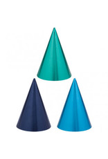 Blue Party Cone Hats