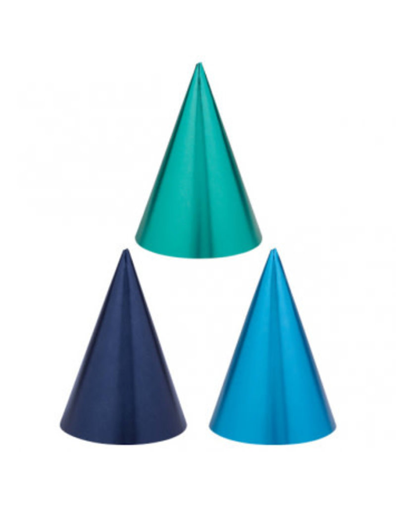 Blue Party Cone Hats (12)