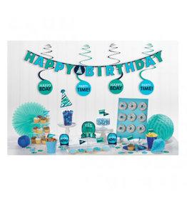 Birthday Blue Mini Decorating Kit