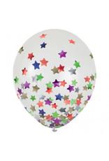 "12"" Latex Balloons w/ Confetti, -Stars, Multi"