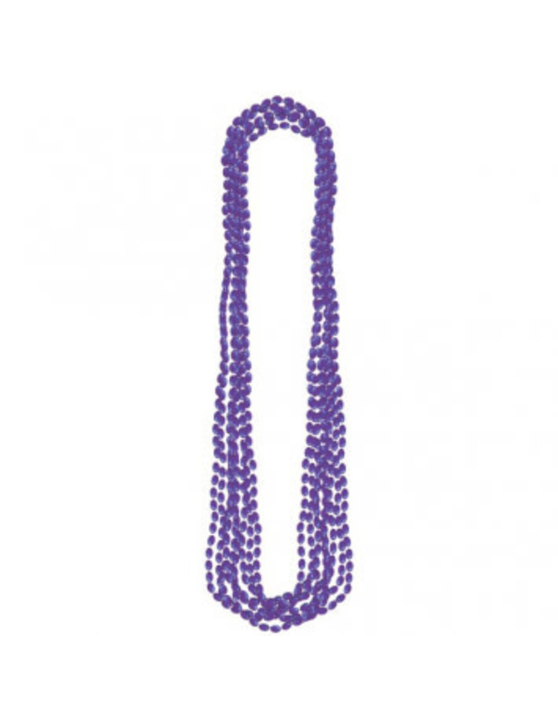 Purple Metallic Bead Necklaces (8)