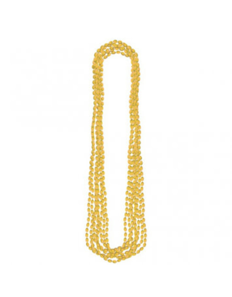 Gold Metallic Bead Necklaces (8)