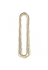 Metallic Bead Necklaces-Black, Silver & Gold (8)