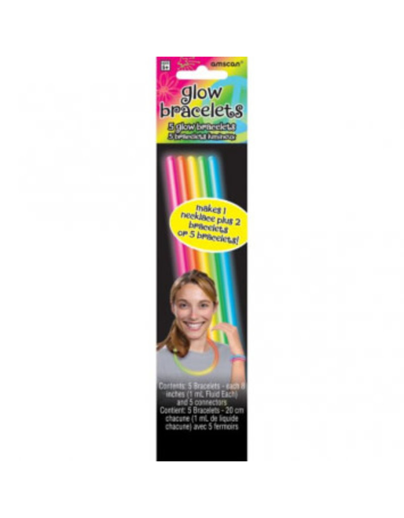"8"" Multi Color Glow Sticks (5)"