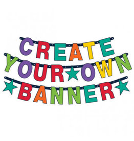 Birthday Accessories Rainbow Create Your Own Banner