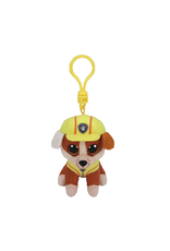 Beanie Boos Paw Patrol Rubble Keychain