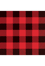 Plaid Lumberjack Beverage Napkins (16)