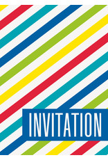 Bright Stripe Invites