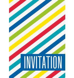Bright Stripe Invites