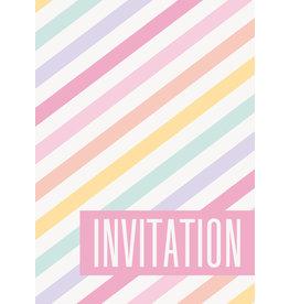 Pastel Stripe Invites