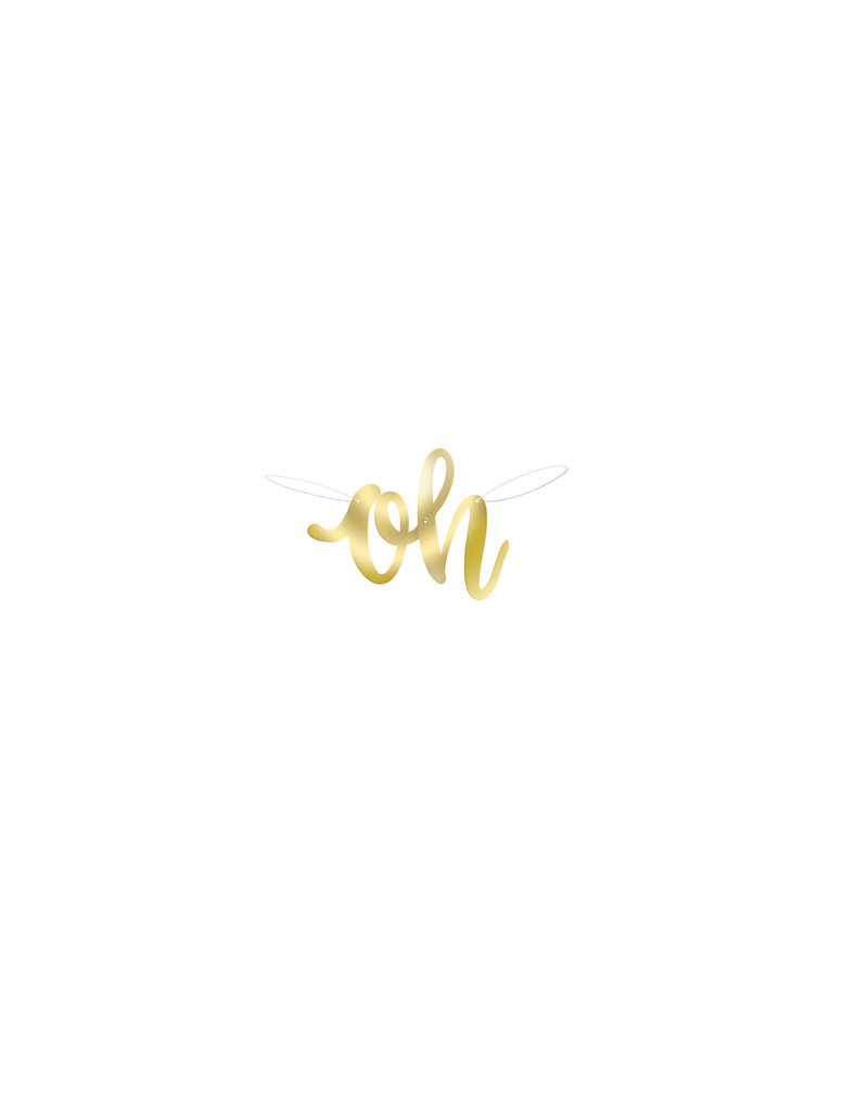 Oh Baby Gold Script Banner