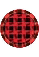 """Plaid Lumberjack 7"""" Plates"""