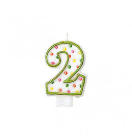 #2 Polka Dots Flat Molded Candle