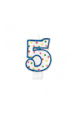 #5 Polka Dots Flat Molded Candle