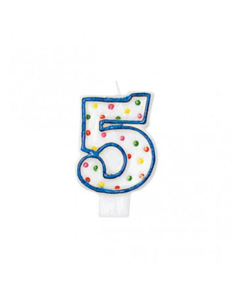 #5 Polka Dots Flat Molded Candle