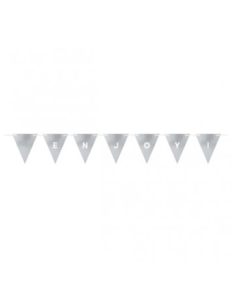 Customizable Pennant Banner Silver