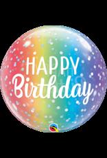 "Birthday Ombre & Dots 20"" Bubble Balloon"