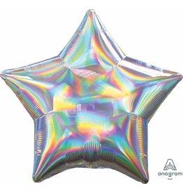 """Iridescent Star 20"""" Mylar Balloon"""