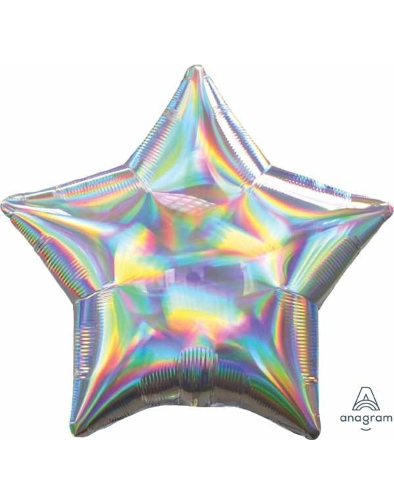 "Iridescent Star 20"" Mylar Balloon"