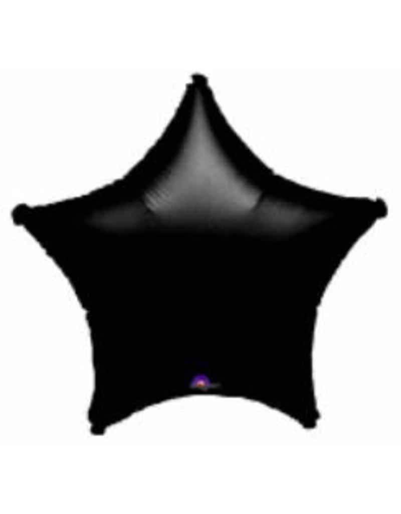 "Black Star 20"" Mylar Balloon"