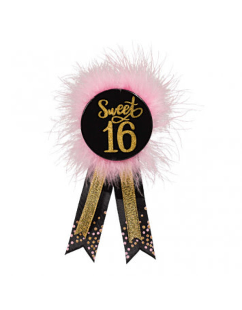 Blush Sixteen Award Ribbon