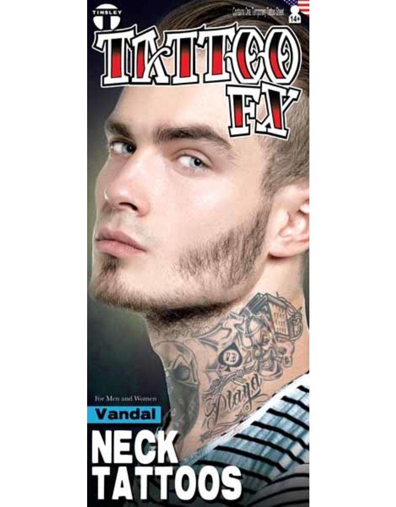 Vandal Neck Tattoo
