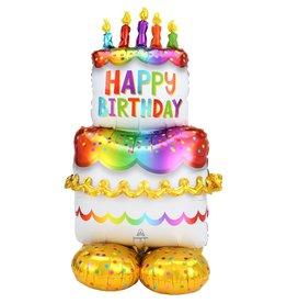 """Birthday Cake 53"""" Airloonz"""