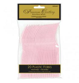 Blush Pink Premium Forks (20)