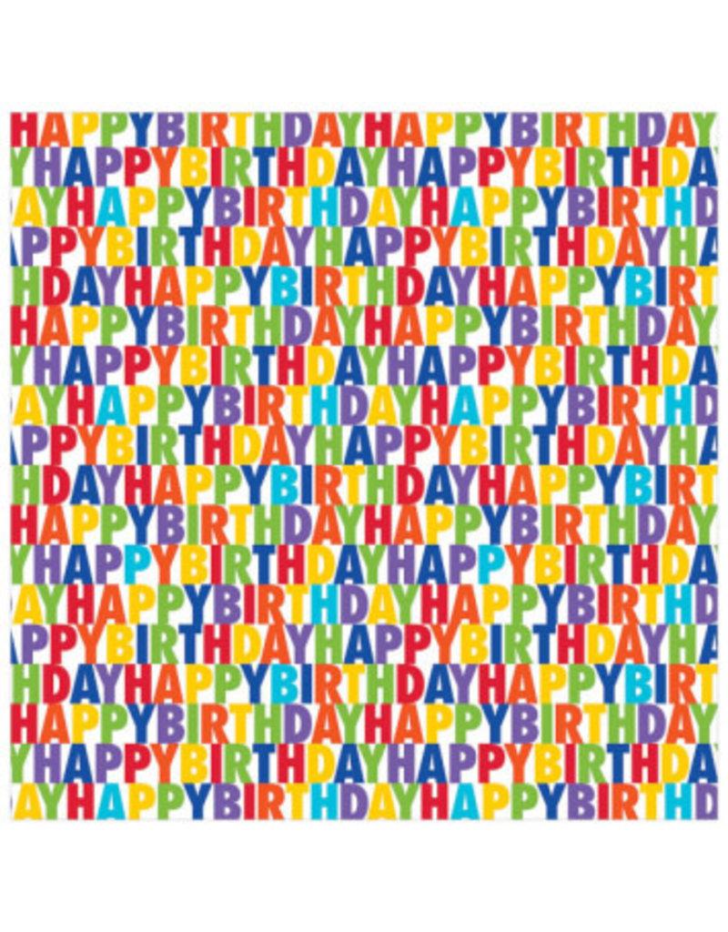 Letter Birthday Jumbo Gift Wrap