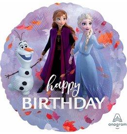 "Happy Birthday Frozen 2 18"" Mylar Balloon"