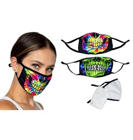 Tye Dye Skull Cloth Mask