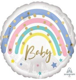 Pastel Rainbow Baby Mylar Balloon