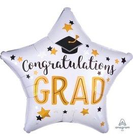 Congrats Grad Star Mylar Balloon
